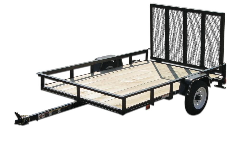 Utility trailers cap world for Wood floor utility trailer